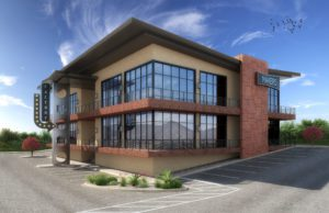 Makers at Pecos Ridge Building rendering- SCA Design Architectural firm