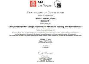 AIA Blue Print For Better Design Presentation SCA Design Certificate