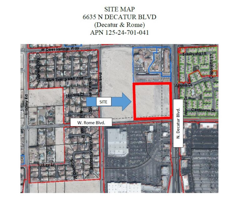 site map 6635 N Decatur Blvd 210098-SK Development of Affordable Mixed-Income Rental Housing seeking development team architect